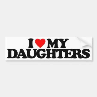 I LOVE MY DAUGHTERS CAR BUMPER STICKER