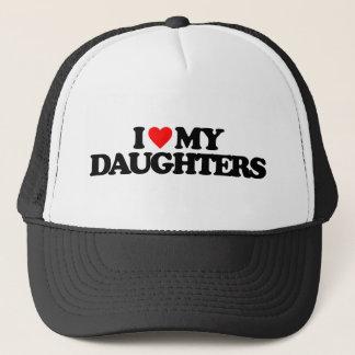 I LOVE MY DAUGHTERS TRUCKER HAT