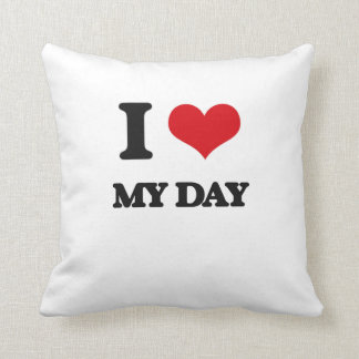 I Love My Day Pillow