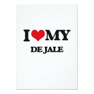 I Love My DE JALE Invitaciones Personalizada
