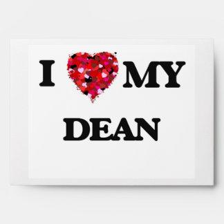 I Love MY Dean Envelopes