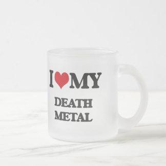 I Love My DEATH METAL 10 Oz Frosted Glass Coffee Mug
