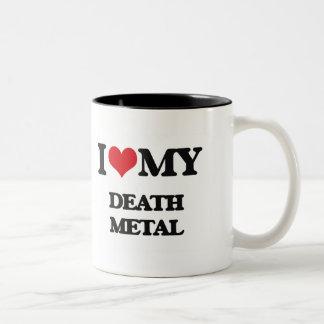 I Love My DEATH METAL Two-Tone Coffee Mug