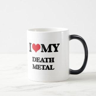 I Love My DEATH METAL 11 Oz Magic Heat Color-Changing Coffee Mug