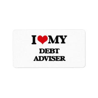 I love my Debt Adviser Address Label