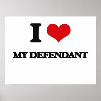 I Love My Defendant Posters