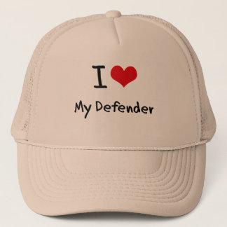 I Love My Defender Trucker Hat