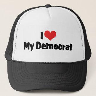 I Love My Democrat Trucker Hat