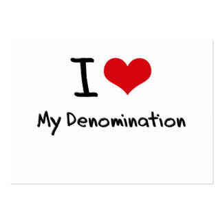 I Love My Denomination Large Business Cards (Pack Of 100)