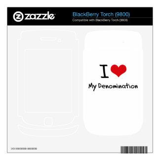 I Love My Denomination BlackBerry Decal