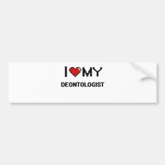 I love my Deontologist Bumper Sticker