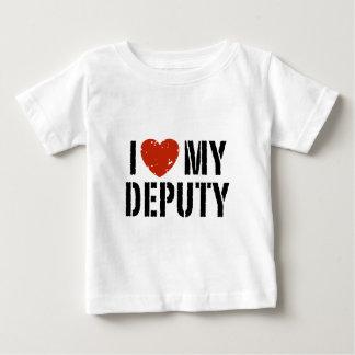I Love My Deputy Baby T-Shirt