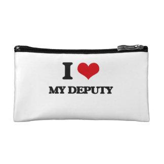 I Love My Deputy Makeup Bag