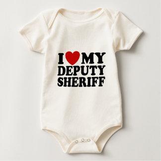 I Love My Deputy Sheriff Baby Bodysuit
