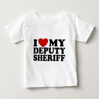 I Love My Deputy Sheriff Baby T-Shirt
