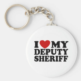 I Love My Deputy Sheriff Keychain