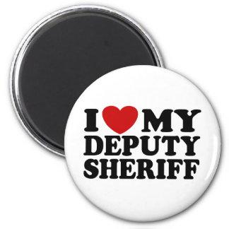I Love My Deputy Sheriff Refrigerator Magnets