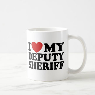 I Love My Deputy Sheriff Coffee Mugs