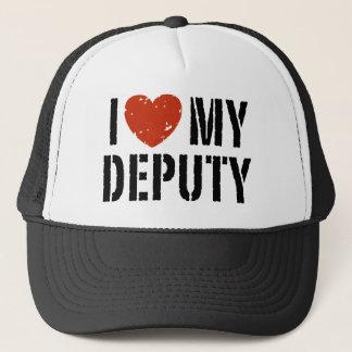 I Love My Deputy Trucker Hat