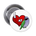 I Love my Derbyan Parakeet Pins