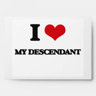 I Love My Descendant Envelope