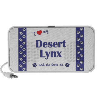 I Love My Desert Lynx (Female Cat) iPhone Speaker