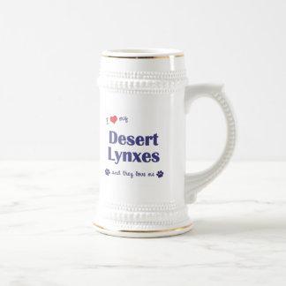 I Love My Desert Lynxes (Multiple Cats) 18 Oz Beer Stein