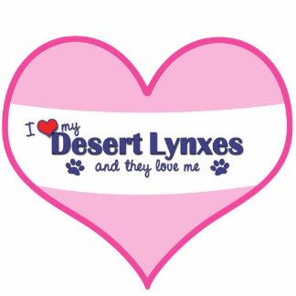 I Love My Desert Lynxes (Multiple Cats) Photo Sculpture Ornament