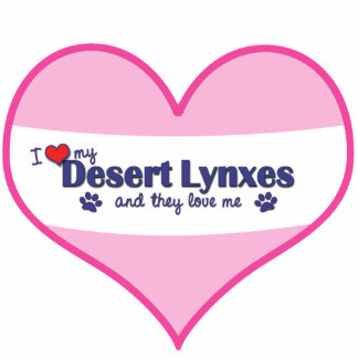 I Love My Desert Lynxes (Multiple Cats) Photo Sculpture Ornament