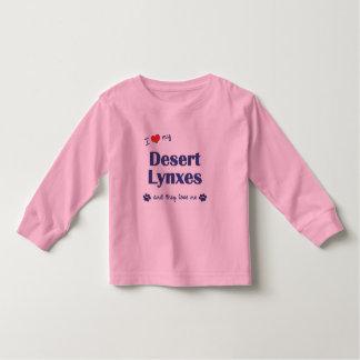 I Love My Desert Lynxes (Multiple Cats) Toddler T-shirt