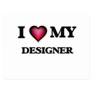 I love my Designer Postcard