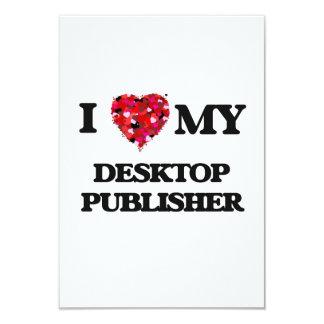 I love my Desktop Publisher 3.5x5 Paper Invitation Card