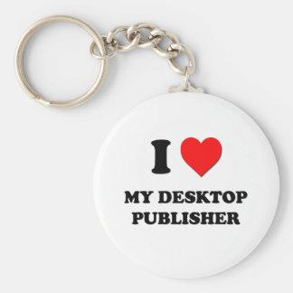 I love My Desktop Publisher Basic Round Button Keychain