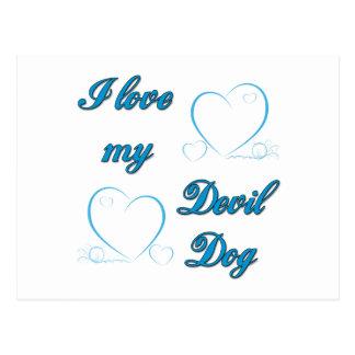 I Love My Devil Dog Postcards