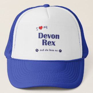 I Love My Devon Rex (Female Cat) Trucker Hat
