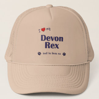 I Love My Devon Rex (Male Cat) Trucker Hat