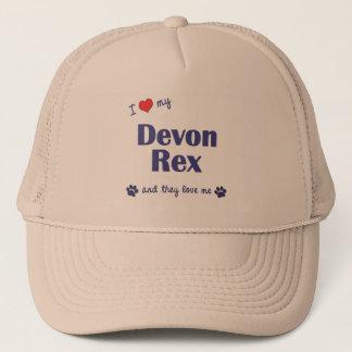 I Love My Devon Rex (Multiple Cats) Trucker Hat