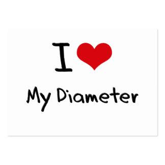 I Love My Diameter Business Card Template