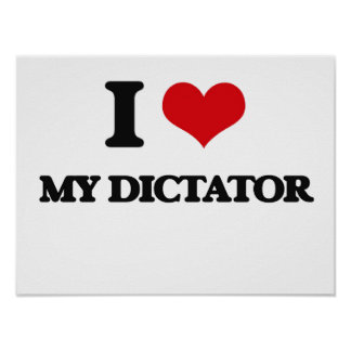 I Love My Dictator Poster