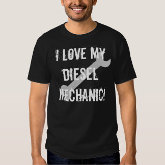 I Love My Diesel Mechanic, Dark T-shirt