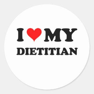 I Love My Dietitian Classic Round Sticker