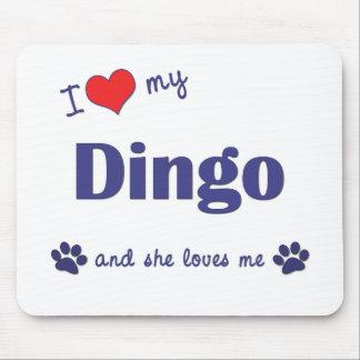 I Love My Dingo (Female Dog) Mouse Pad
