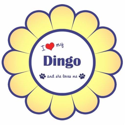I Love My Dingo (Female Dog) Photo Sculpture Ornament