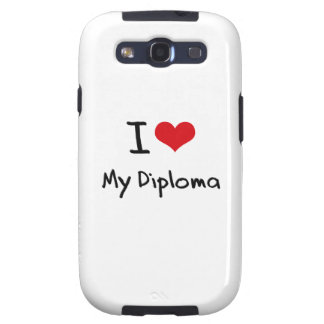 I Love My Diploma Galaxy S3 Covers
