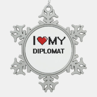 I love my Diplomat Snowflake Pewter Christmas Ornament
