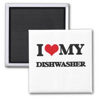 I love my Dishwasher 2 Inch Square Magnet