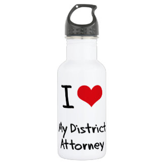 I Love My District Attorney 18oz Water Bottle