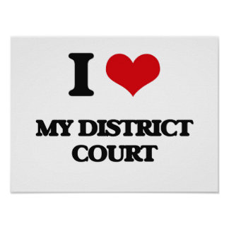 I Love My District Court Print