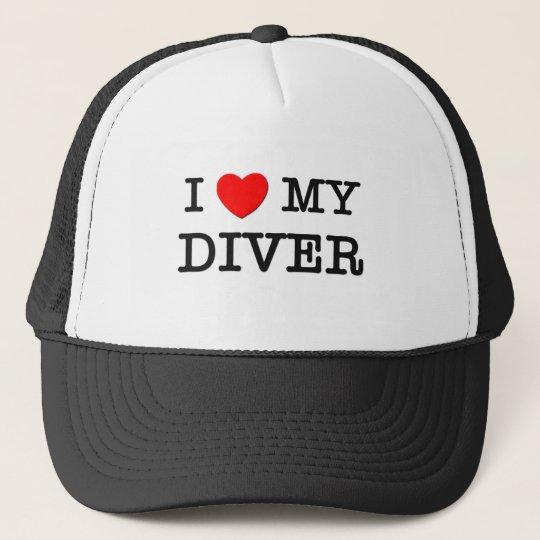 I Love My DIVER Trucker Hat