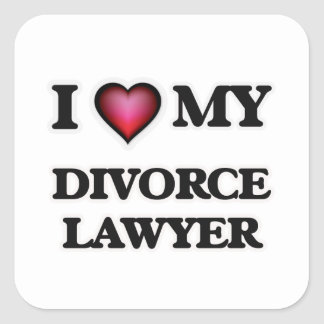 I love my Divorce Lawyer Square Sticker